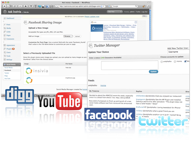 Social Media Manager Screen