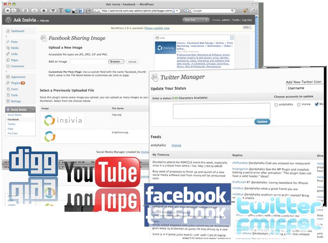 Social Media Manager Screen