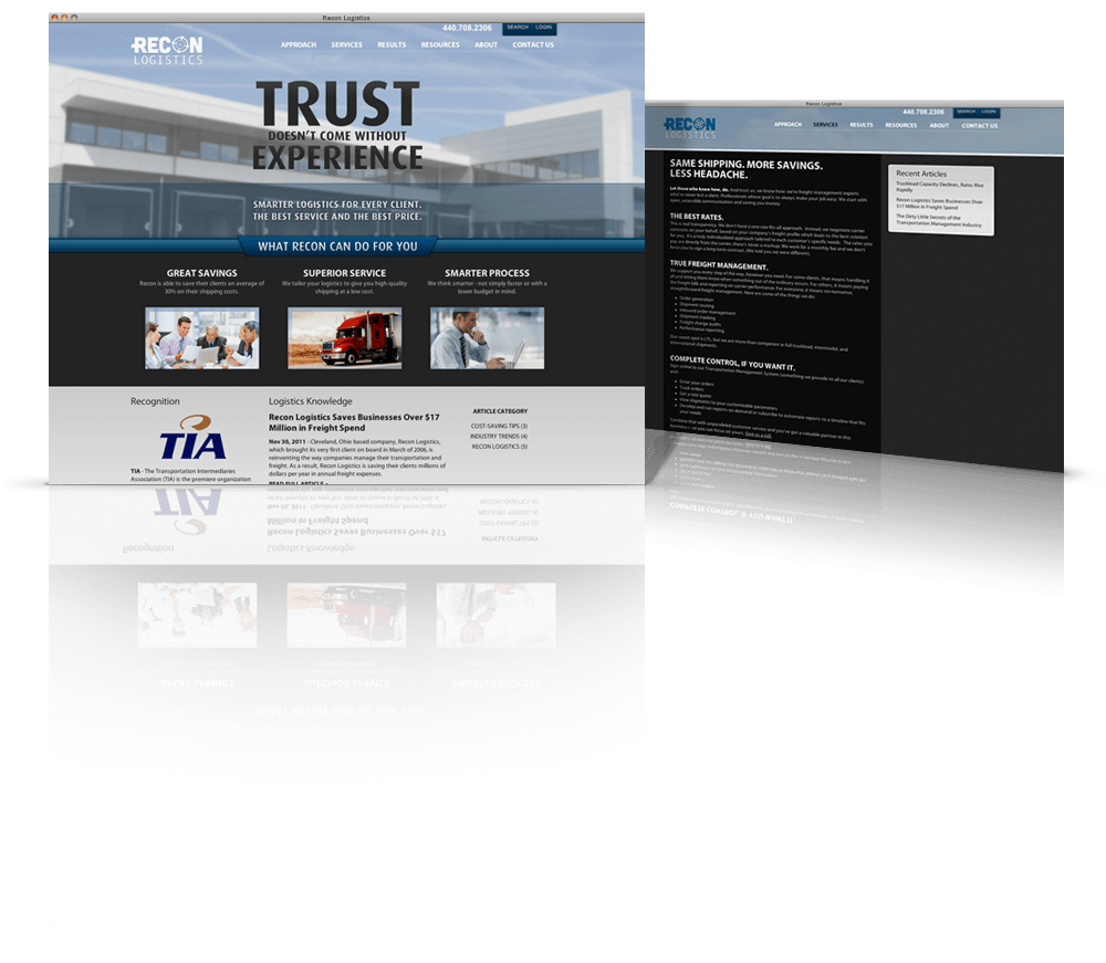 Recon Logistics Web Design