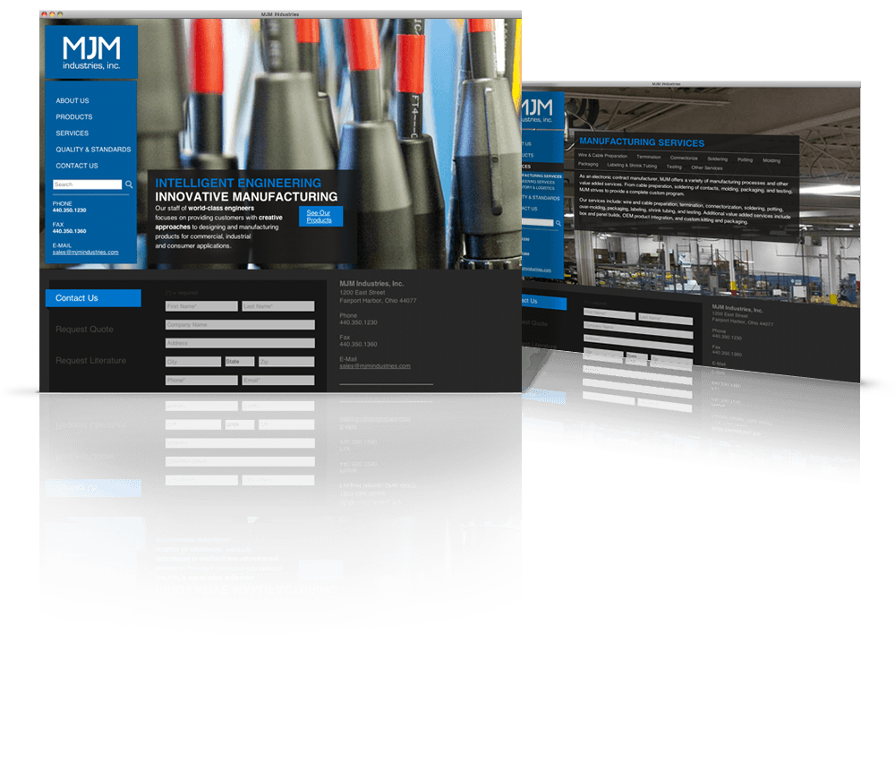MJM Industries Web Design