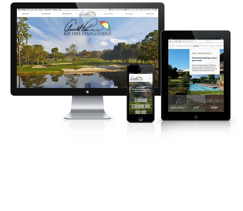 Website Design for Arnold Palmer's Bay Hill Club & Lodge