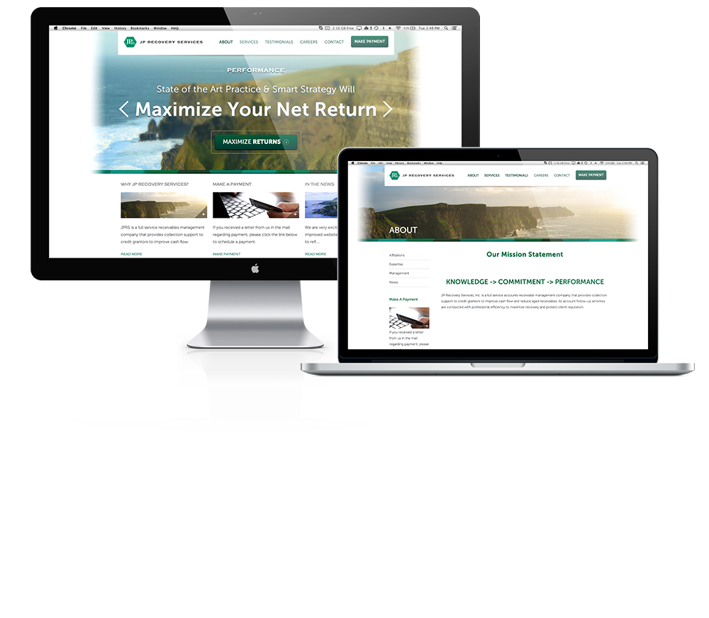 JP Recovery Website Web Design