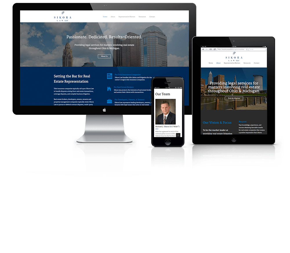 Website Design for Sikora Law LLC