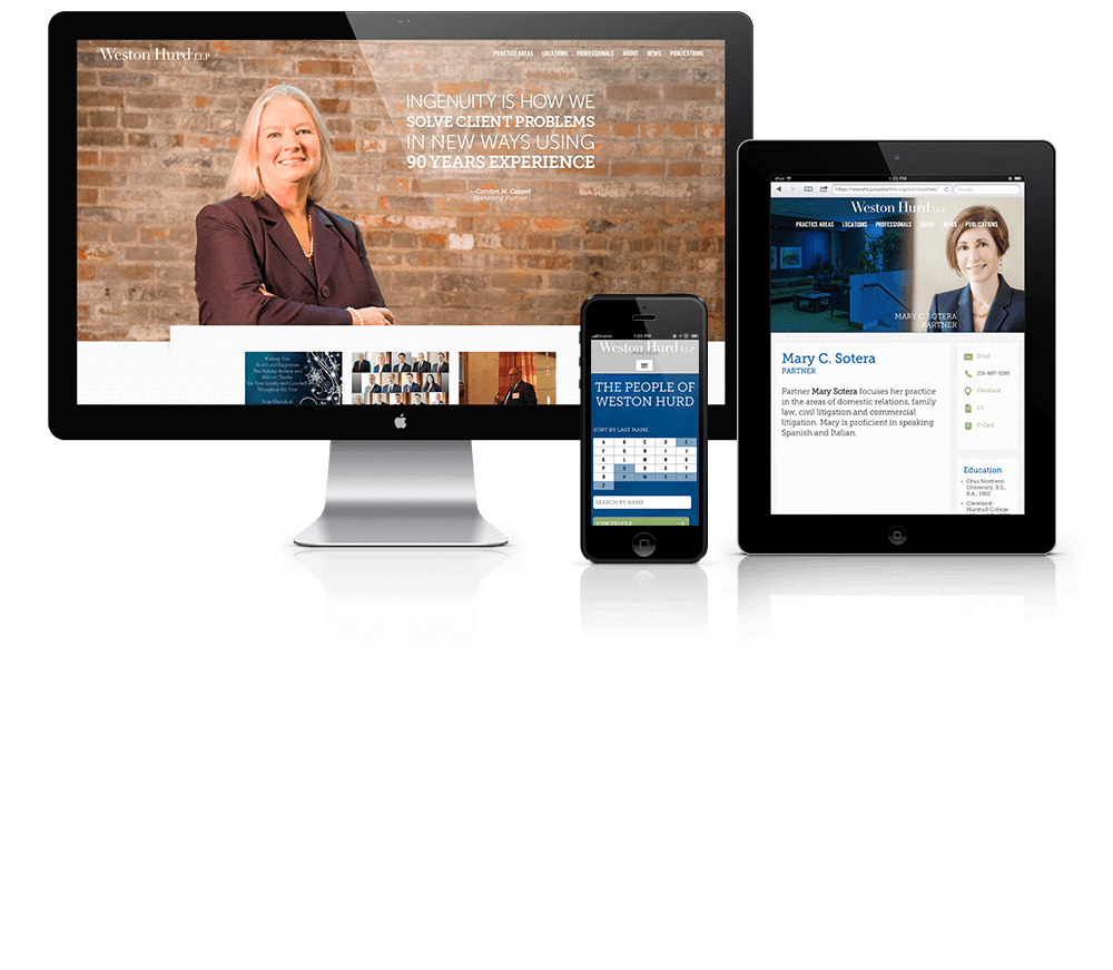 Website Design for Weston Hurd LLP