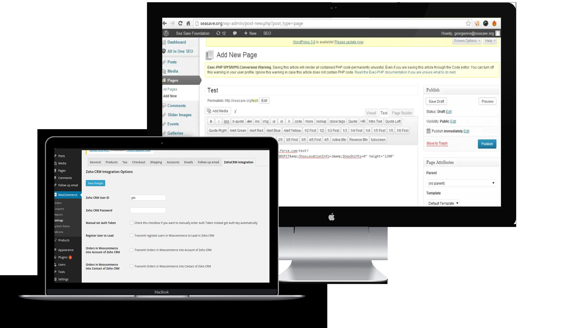 WordPress Administrative Interface