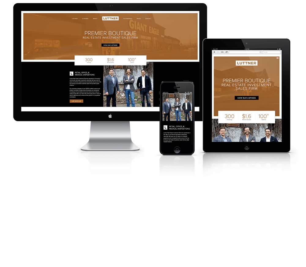 Luttner Real Estate Investment Services Web Design