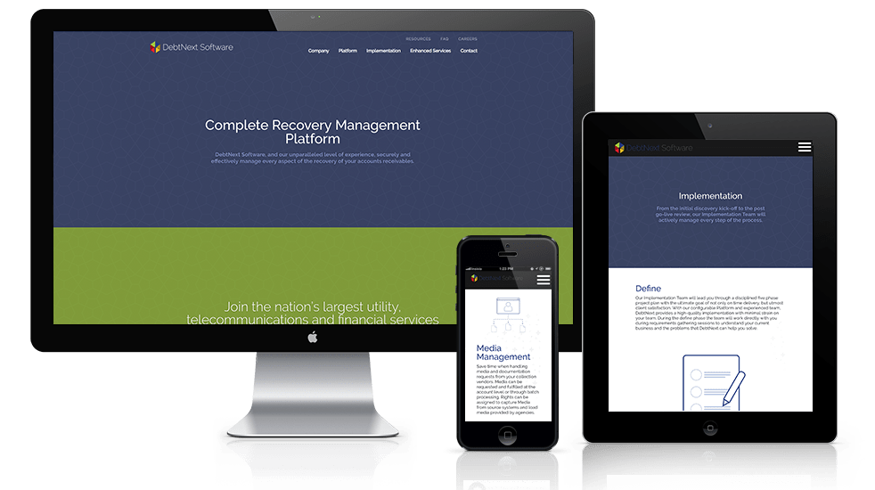 Financial Software Website Design