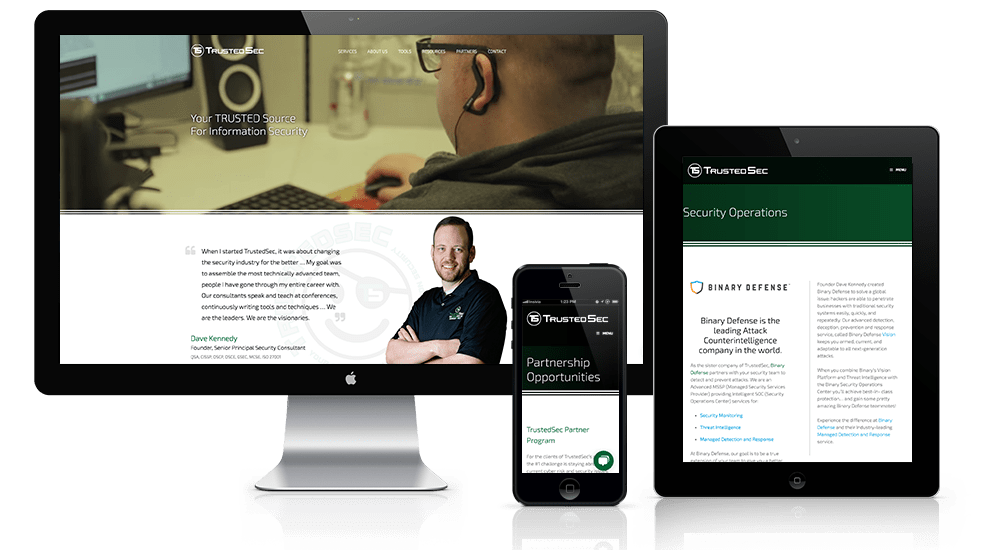 TrustedSec Web Design