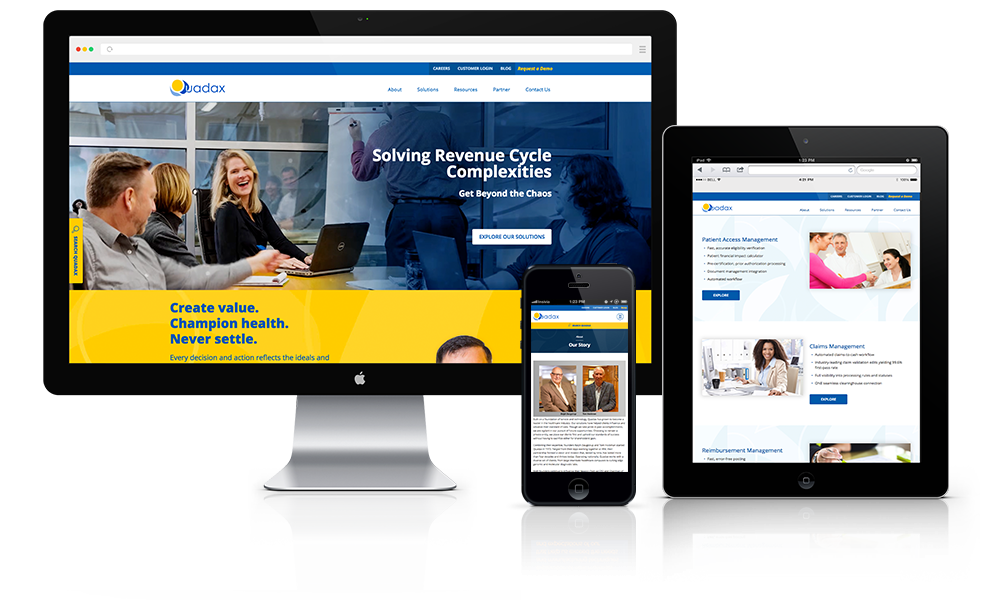 Enterprise Health Software Website Design