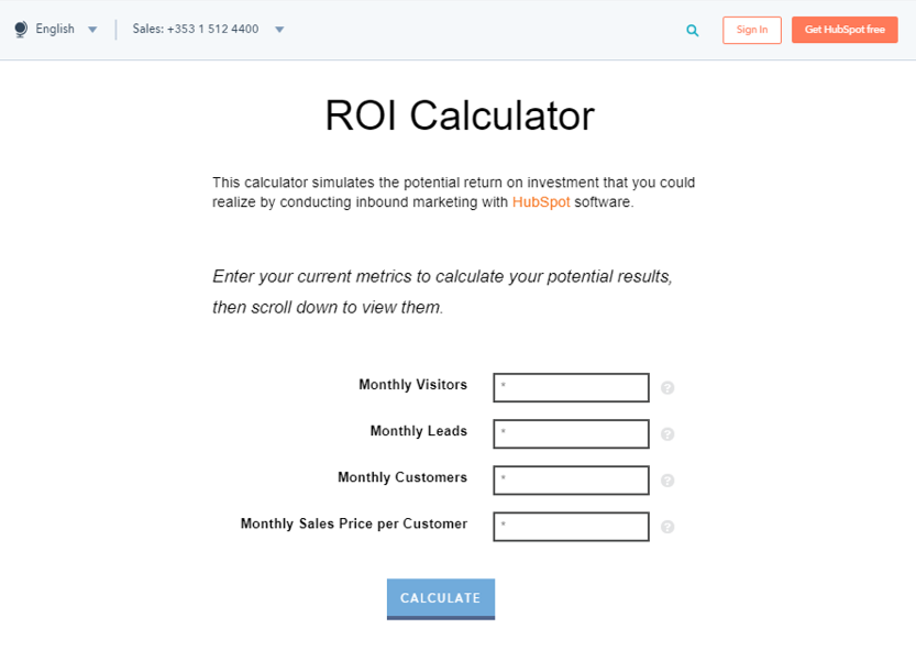 software ROI calculator
