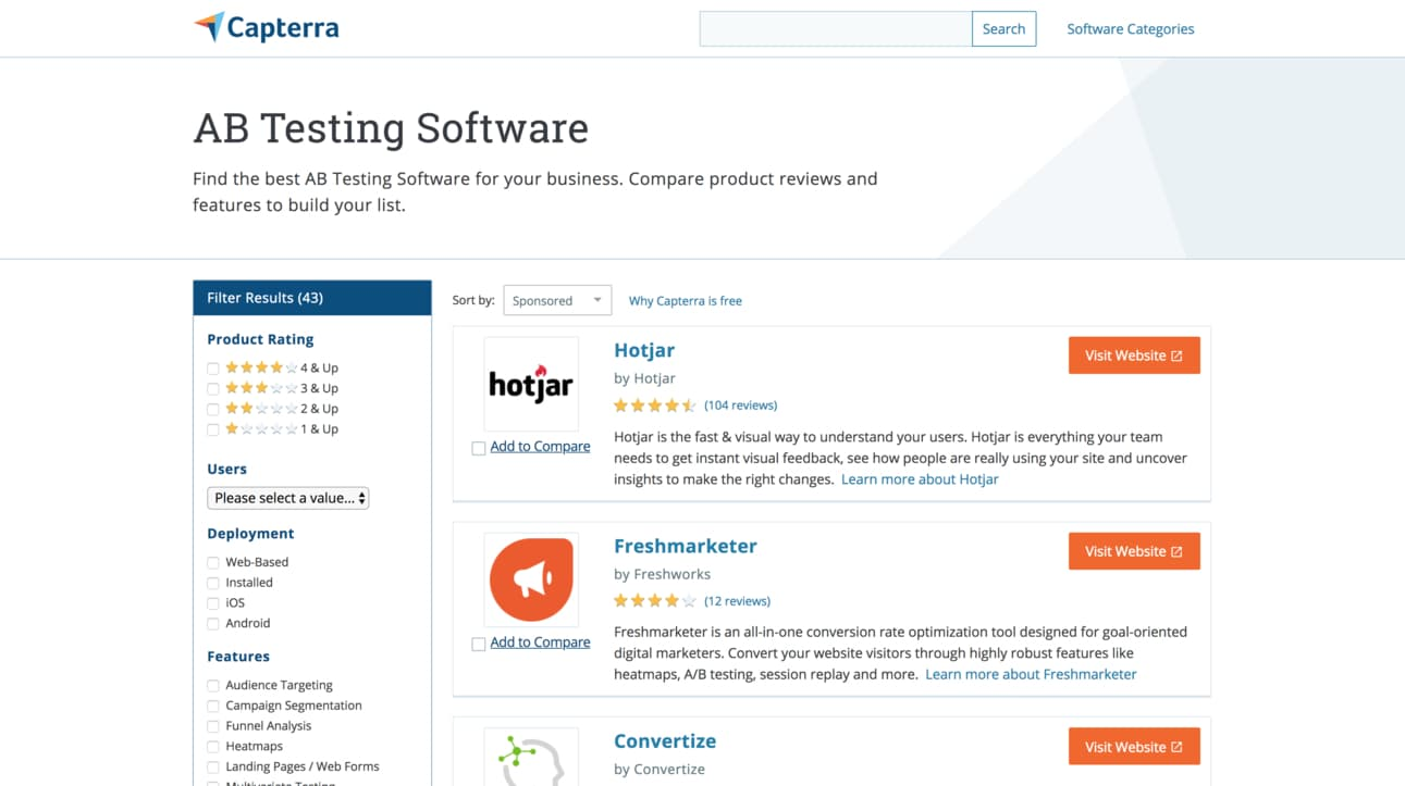 Capterra SEO Software
