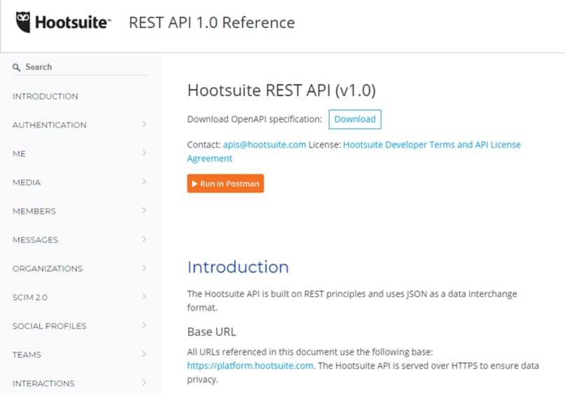 Hootsuite SaaS API for SEO