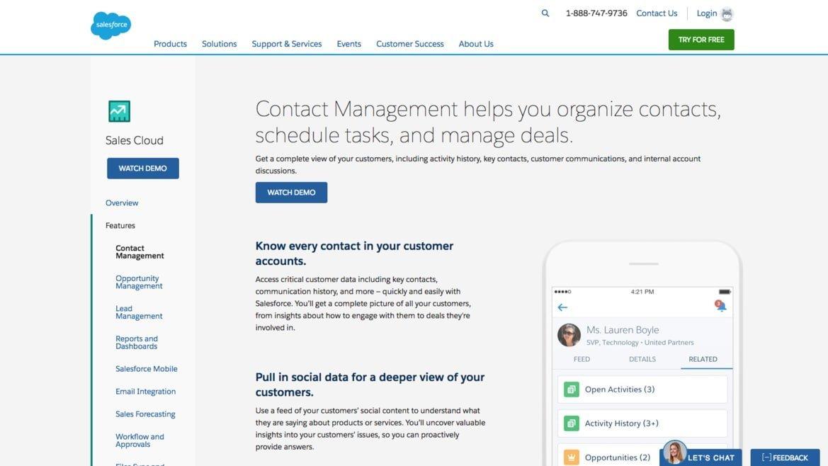 Salesforce SEO page