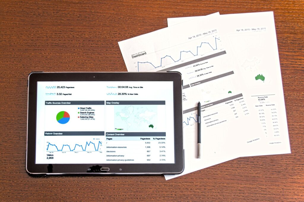 tablet-with-graphs